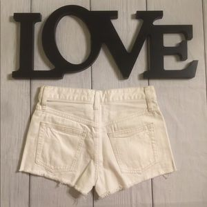 Free People Shorts - Free People Size 24 White Cut Off Jean Shorts